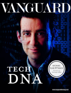 Vanguard cover featuring Tech DNA